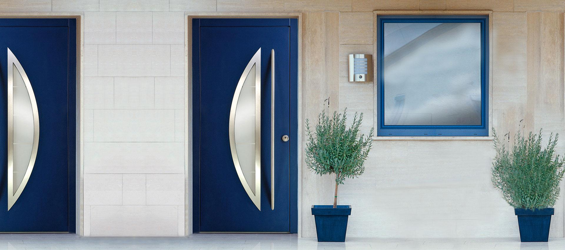 Porte d 39 ingresso okna samoraj porte e finestre in pvc - Porte ingresso vetro ...