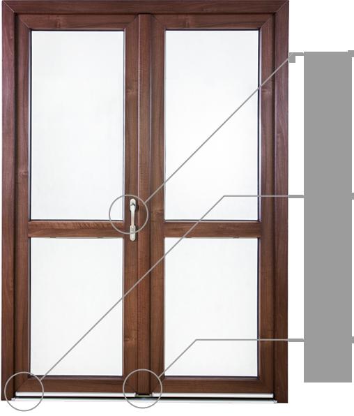 Porte balcone okna samoraj porte e finestre in pvc for Porta finestra pvc