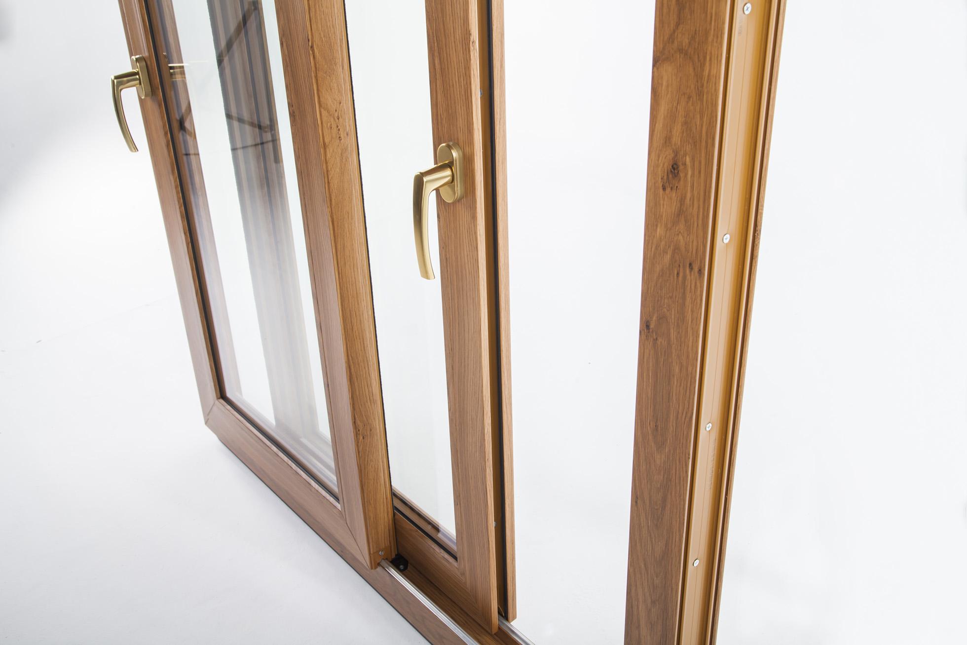 Porte finestre scorrevoli ekosol okna samoraj porte e finestre in pvc dalla polonia - Porta finestra legno ...