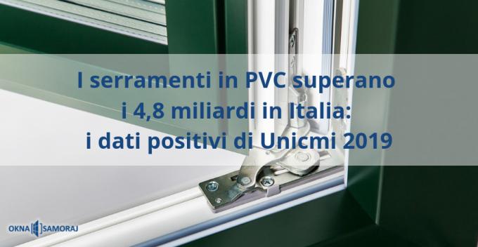 Okna Samoraj finestre in PVC: dati UNICMI sui trend 2019 degli infissi in PVC